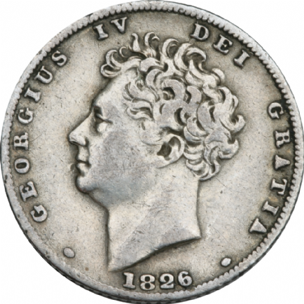 1828-1829 George IV Shilling- Bear Head
